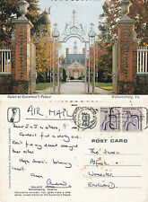 1970's GOVERNORS PALACE WILLIAMSBURG VIRGINIA UNITED STATES COLOUR POSTCARD