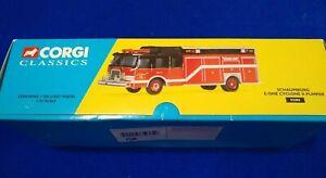 Vtg Corgi Classic  Model Fire Truck E One Cyclone II Pumper 52202 Schaumburg New