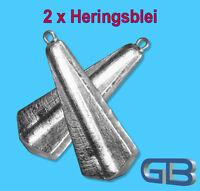2 x Heringsblei, 30g bis 150g, Paternosterblei Blei Angelblei Grund
