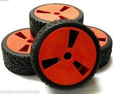 Ruote, cerchi e pneumatici rosso per modellini radiocomandati