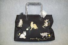 "Sydney Love ""Cats"" Collection Designer Satin Vinyl Tote Bag."