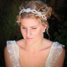 Wedding Bride Headwear Hairband Lace Pearl Rhinestone Headband Women Party Tiara