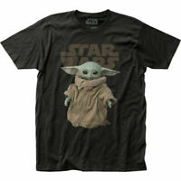 The Mandalorian The Child T Shirt Mens Licensed Star Wars Movie Baby Yoda Black