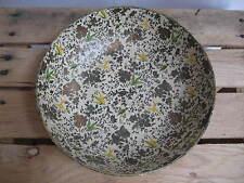 Vintage Paper Mache Bowl Lacquerware Alcohol Proof Japan Flowers/Birds