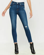 NWT $189 Seven 7 For All Mankind Jeans Aubrey Super High Skinny Ankle sz 32