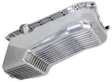 Aluminum polished Chevy Small Block chevrolet Oil Pan finned V8  305 350 86 up