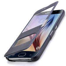 Flip Cover Handytasche Samsung Galaxy S6 SM-G920F Schutz Hülle Case Schwarz