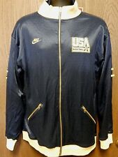 Nike NBA USA Basketball Dream Teamf Cotton/Polyester Zip Up Jacket Size Large