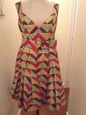 African Designer Multi color criss cross Dress Will fit size 12 to 14