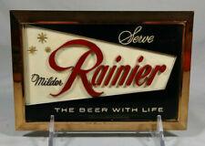 Old Rainier Beer 3-D Cast Metal Back Bar Display Sign Sicks Seattle Spokane WA
