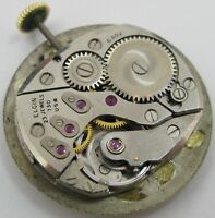 Elgin 730 23 jewels 6 adj. watch movement & dial for parts ...