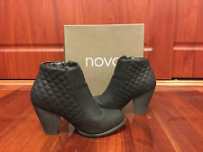 Novo Black Ankle Boots Quilted Detail Women Size 7 AU / Size 8 US / Size 5.5 UK
