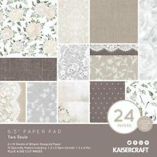 "KAISERCRAFT Scrapbooking 6.5"" Paper Pad - Two Souls Wedding Flowers Invitations"