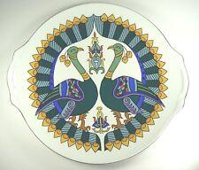 Bernardaud Limoges Cera e Noor Peacock Porcelain Handled Platter Aga Khan