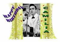 JOHNNY CASH      - Personalised Birthday Greeting Card A5