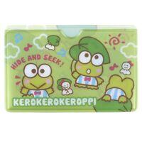 Sanrio Kerokerokeroppi 9.5W x 6.2H cm PVC Card Holder (9-2524-141)