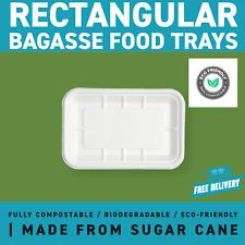 Bagasse Rectangular Food Trays | Fully Compostable Renewable Sugar Cane