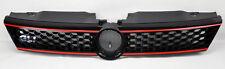 VW Jetta 4dr Sedan MK6 11-14 Gloss Black w/ Red Honeycomb Hex Front Grill