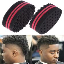 Double Barber Hair Magic Twist Sponge Brush Dreads Locking Coil Afro Curl Wave