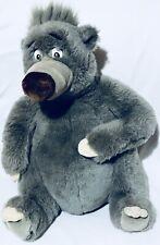 VTG Disney Baloo Bear Gray The Jungle Book 12'' Plush Stuffed Animal Teddy