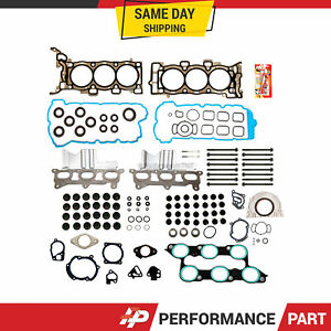 Full Gasket Set Head Bolts Fit 09-16 Chevrolet Tranverse Buick Enclave GMC 3.6L