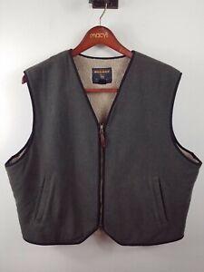 Woolrich Outdoor Vest Wool Blend Fleece Lined Size XL Loden Green