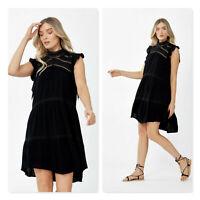 DECJUBA | Womens Navy Cassandra Lace insert Dress [ Size AU 8 or US 4 ]