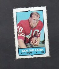 1969 TOPPS FOUR IN ONE(4-IN-1) KEN WILLARD SAN FRANSICSO 49ERS