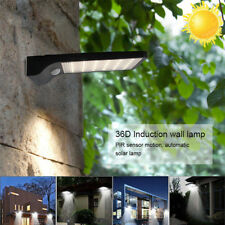 36LED BLACK Solar Powered Motion Sensor Garden Security Lamp Outdoor Waterproof