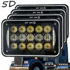 4pcs 4x6 inch Led Headlights Cree Sealed Beam for Kenworth Peterbilt 379 378 357
