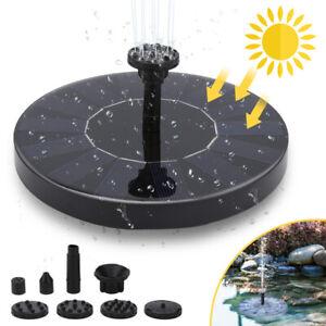 1.5W SolarPumpe solar springbrunnen Fontäne Teichpumpe Teich Wasserspiel