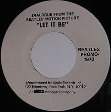 """THE BEATLES: Dialogue from Motion Picture """"Let It Be"""" RARE Promo ONLY 45 NM!"""
