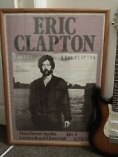 More details for eric clapton august original concert poster genuine opening night 3rd jan 1987