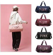 New Women Girls Print Pink Sequins Large Multifunction Duffel  Gym Bag