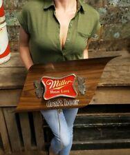 Vintage Miller High Life Beer Advertising Sign Lighted Draft Beer 1970's Retro