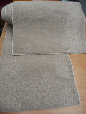 101inch (256cm) two RUG & RUNNER BEIGE FLECK TWIST PILE HEAVY DOMESTIC  #1786