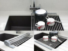 Metal Dish Rack Drainer Sink Kitchen Washing Up Holder
