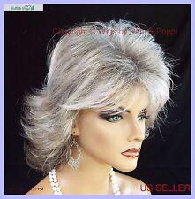 Angela  Classique  MID LENGTH LAYERED SHAG Wig * R51LF60 Grey  lightweight cap