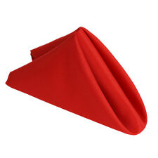 """25 pcs RED Polyester 17x17"""" TABLE NAPKINS Wedding Party Kitchen Linens SALE"""