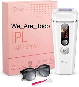 BESTOPE - IPL Hair Laser Removal System For Women & Men, 990000 Flashes, White