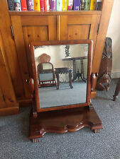 Antique Victorian Mahogany Dressing Table Mirror /Toilet Vanity Swing Mirror