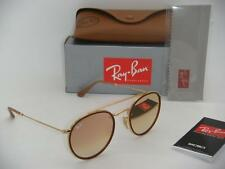 Authentic Ray-Ban RB 3647N 001/7O 51mm Gold Frame Crystal Pink Gradient Mirror