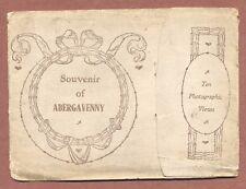 Abergavenny Souvenir Lettercard  c1910, 8 images, Sugarloaf Mountain  JX12
