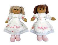 Personalised Vintage Rose Rag Doll 40cm Toy Gift Girl Bridesmaid Christening