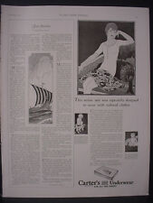 1922 Carter's Knit Underwear for whole Family Woman Kids Vintage Print Ad 12074