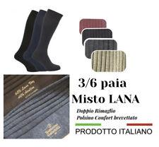 3/6 PAIA DI CALZE UOMO CALDO MISTO LANA LUNGHI CALZINI  INVERNALI lavoro moda