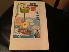 MONSTER FUN BADTIME BEDTIME BOOK .1970's Paper pull / cut out MOBY DUCK comic