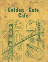 Vintage NEW GOLDEN GATE CAFE Menu Los Angeles California 1950