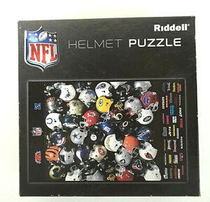 "Riddell NFL NFC & AFC Football Helmets Jigsaw Puzzle 11"" x 17"" 100% Complete"