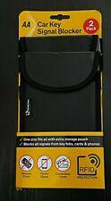 AA Car Key card phone Pouch Bag Signal Blocker RFID Blocking Case x 2